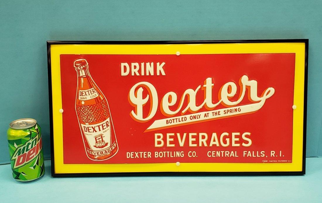 Tin Embossed Drink Dexter Beverages Sign
