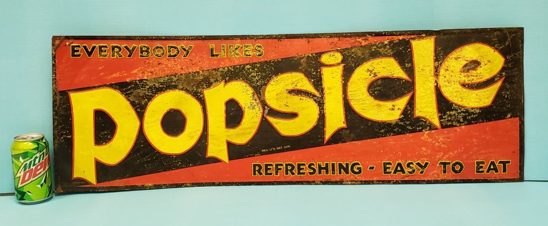 Tin Embossed Popsicle Sign