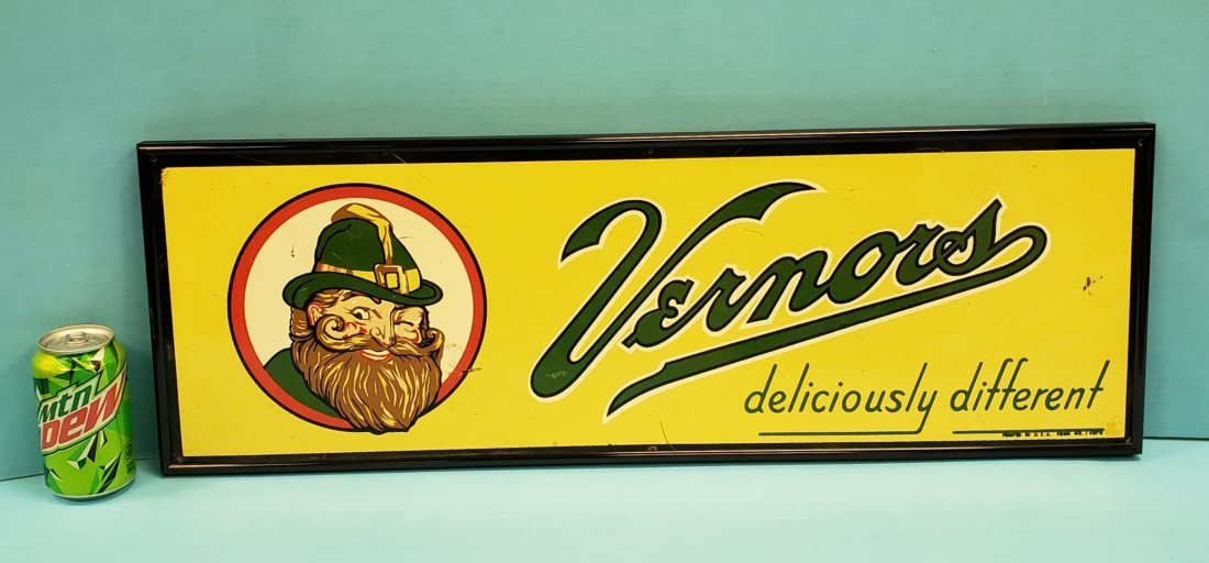 Vernor's Framed Tin Sign
