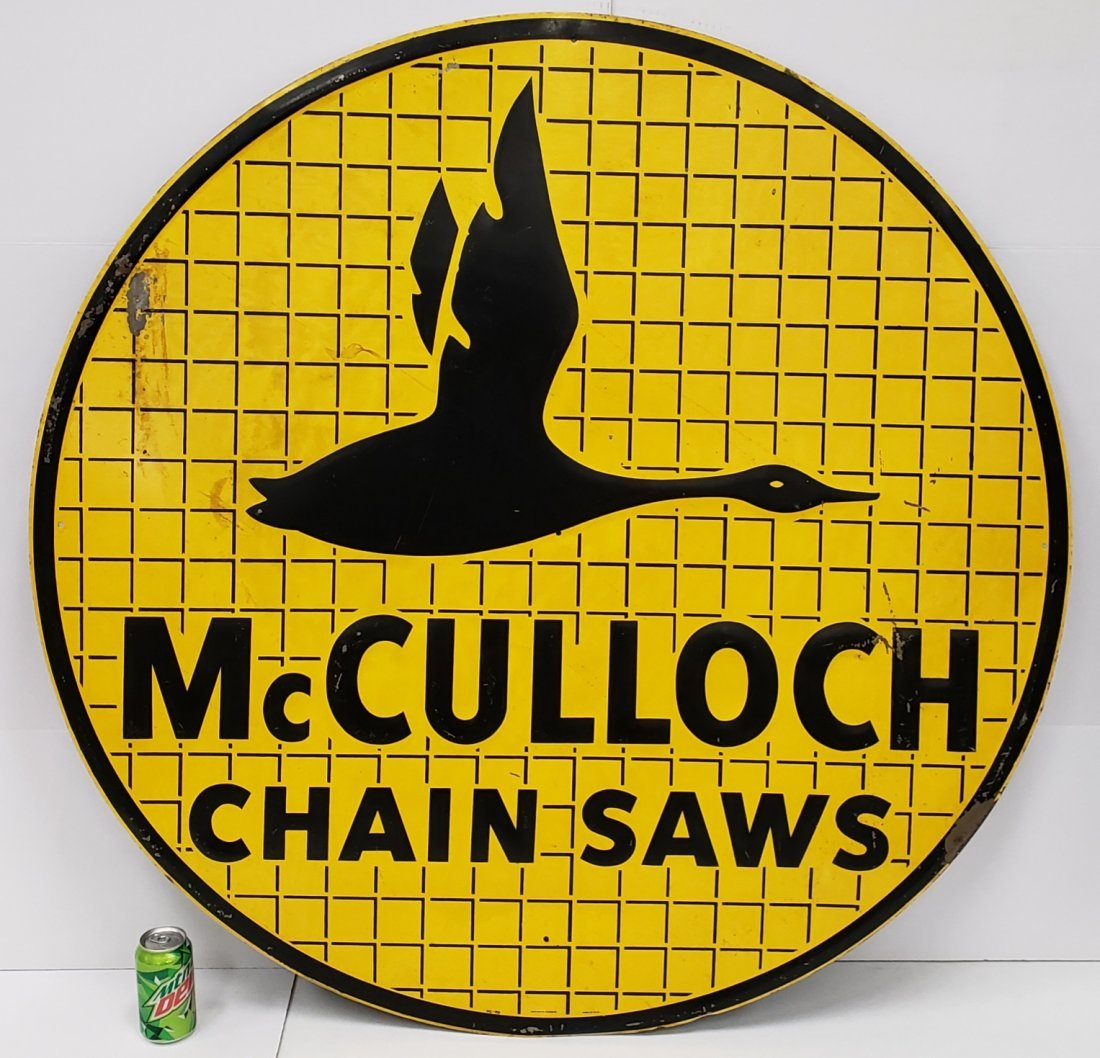 McCulloch Chain Saws Round Disc Sign