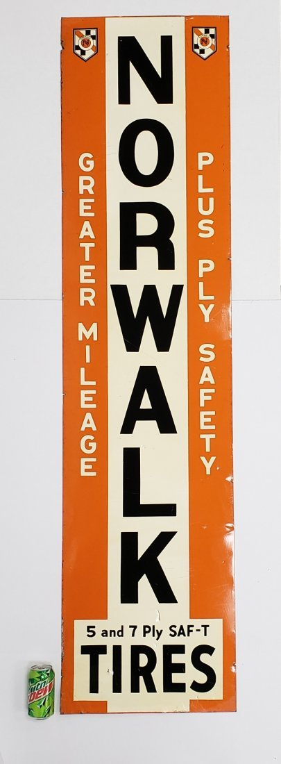 Norwalk Tires  Vertical Tin Sign