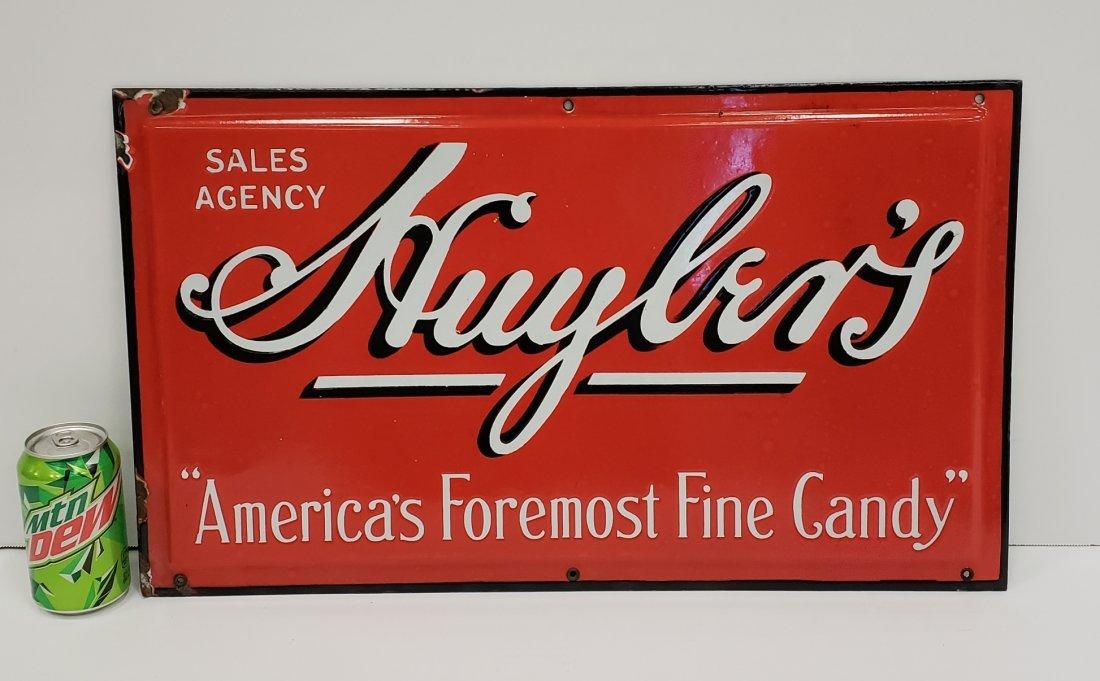 Porcelain Huyler's Candy sign
