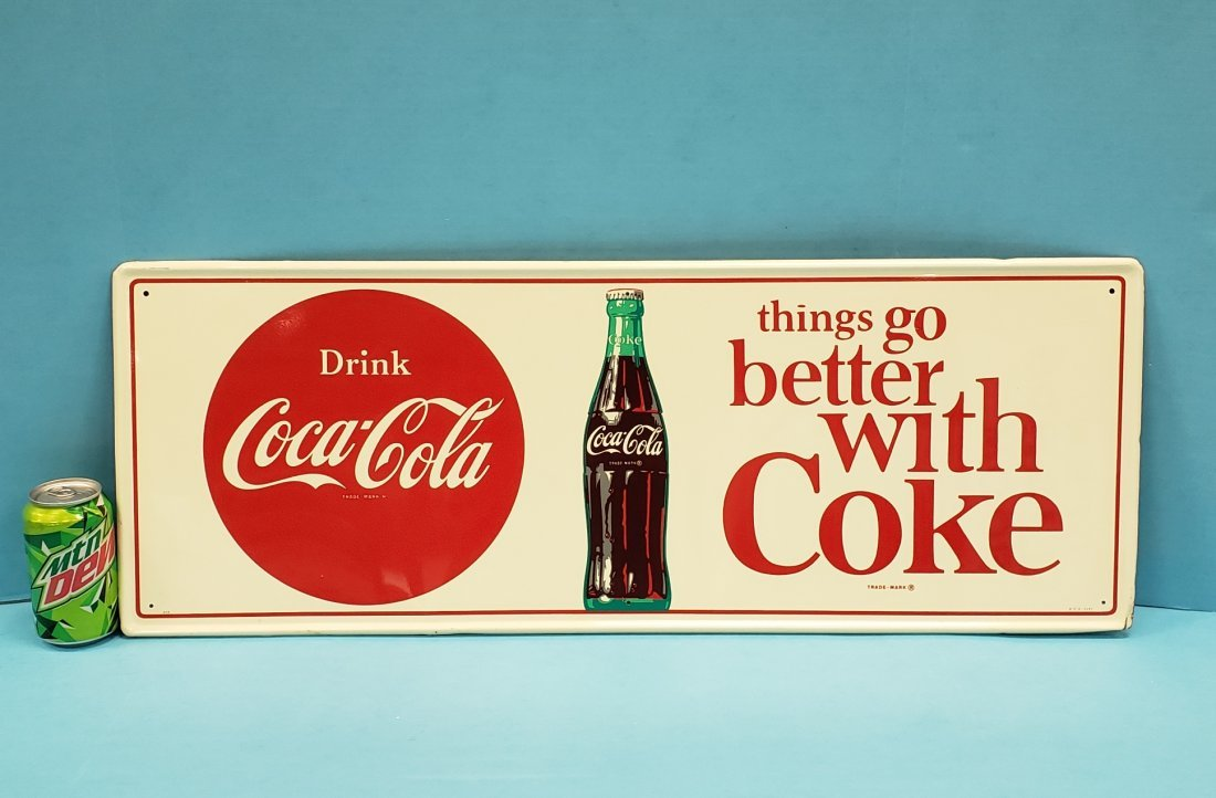 NOS Things Go Better With Coke Tin Coca Cola Sign