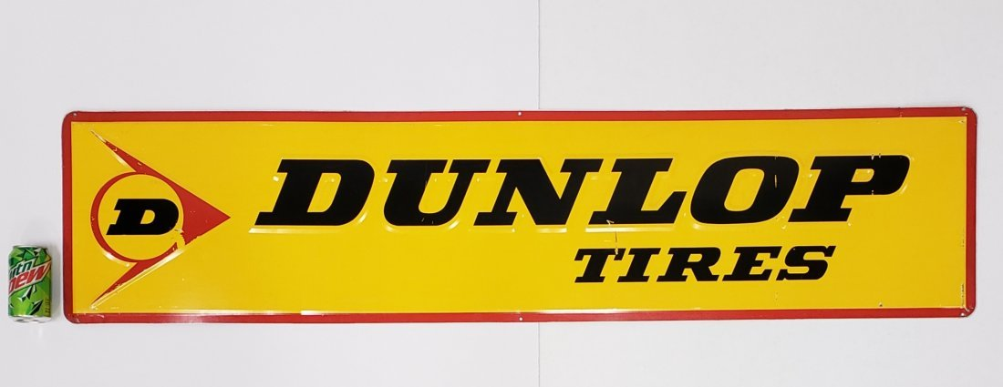 Dunlop Tires Embossed Tin Sign