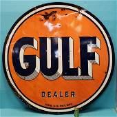 Porcelain Gulf Dealer Sign