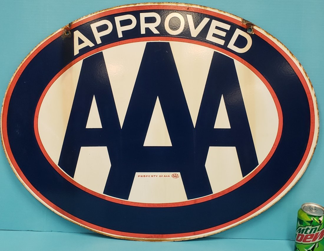 Porcelain  AAA double sided sign