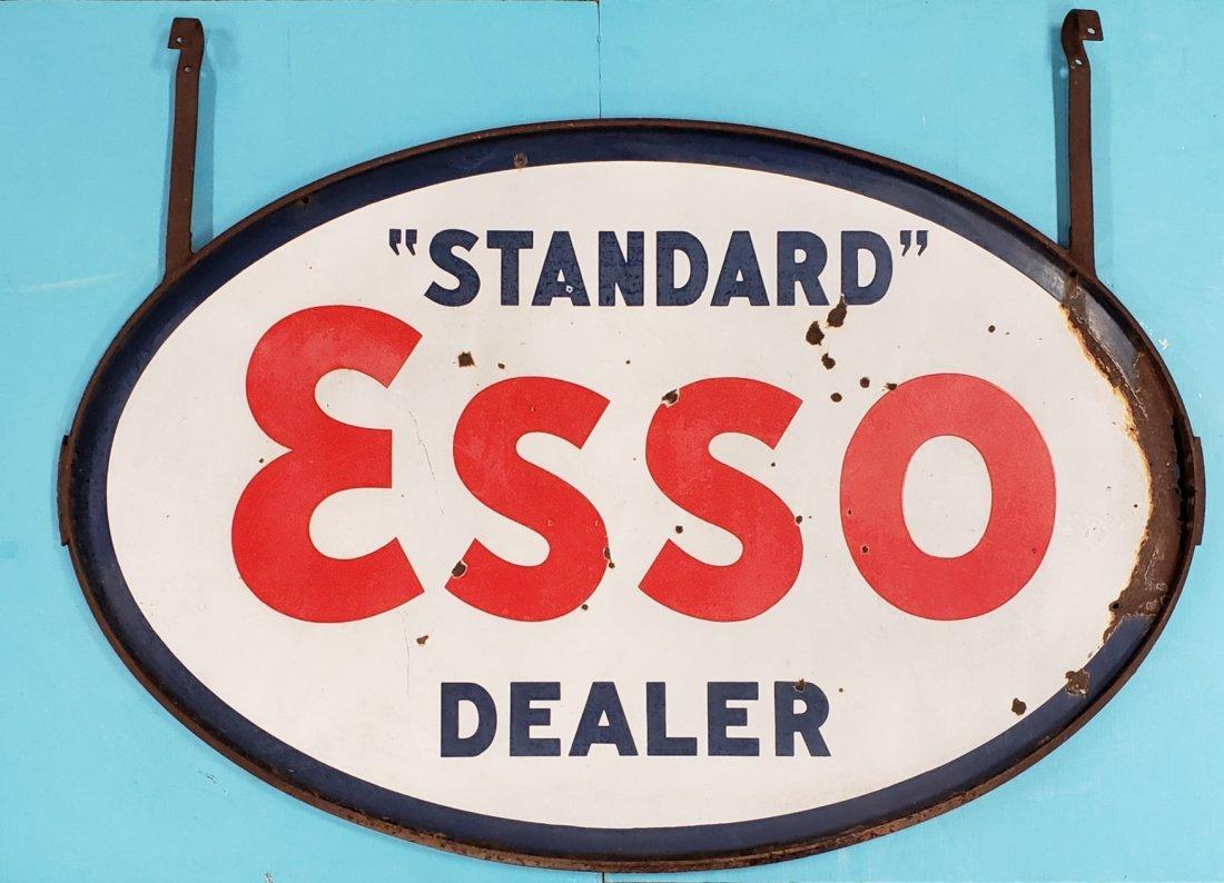 Porcelain Standard ESSO Dealer sign & Ring