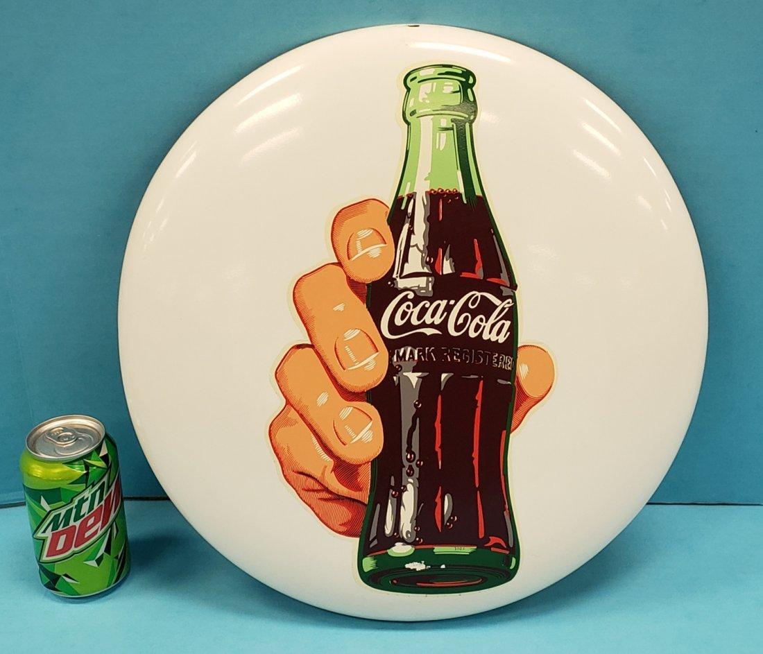 White Coca Cola Button