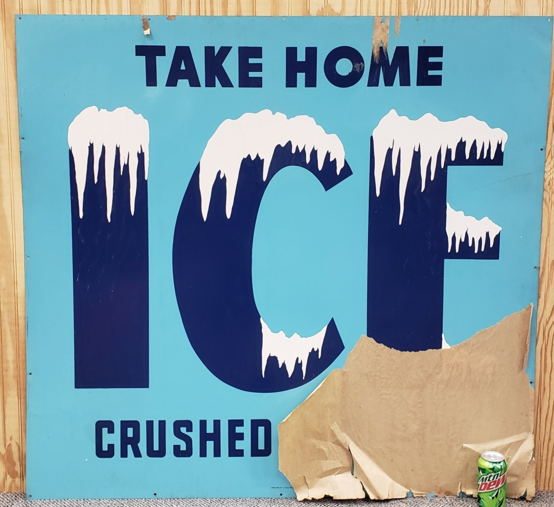 Large NOS Ice sign