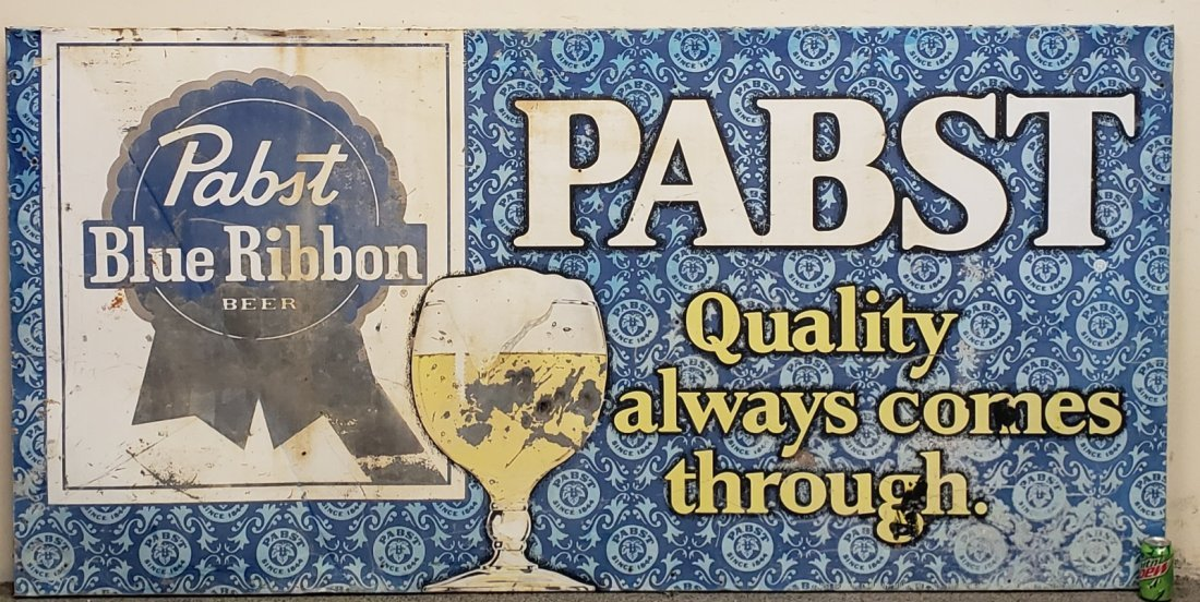 Large Pabst Blue Ribbon Beer Sign