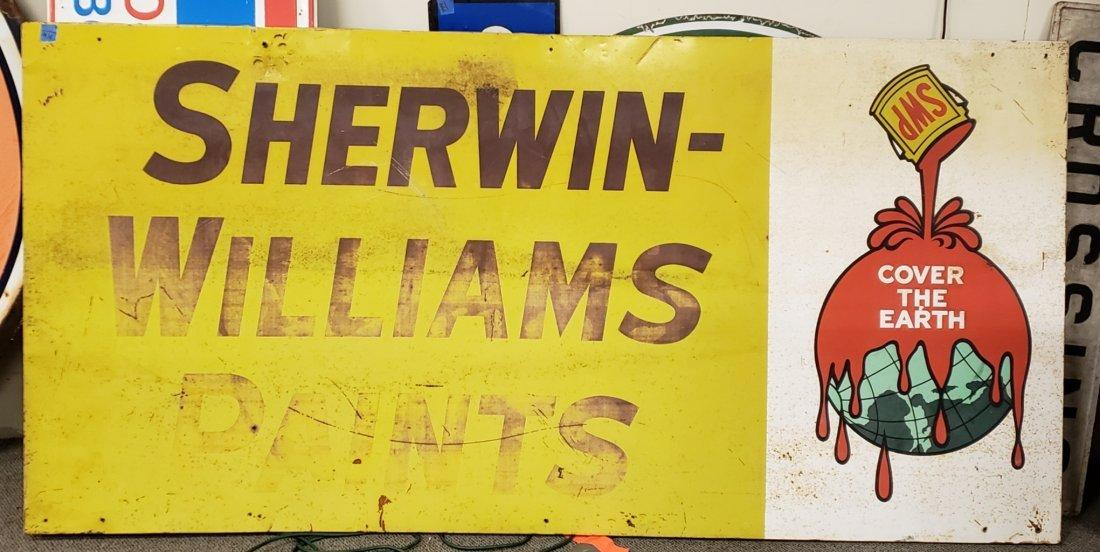 Large Sherwin Williams Tin Sign