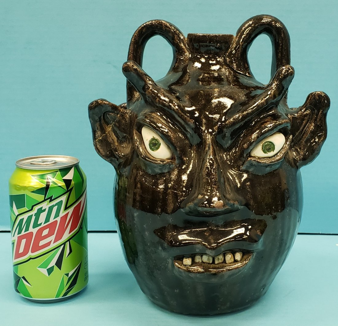 Cleater Meaders  Double Devil Face Jug 1986