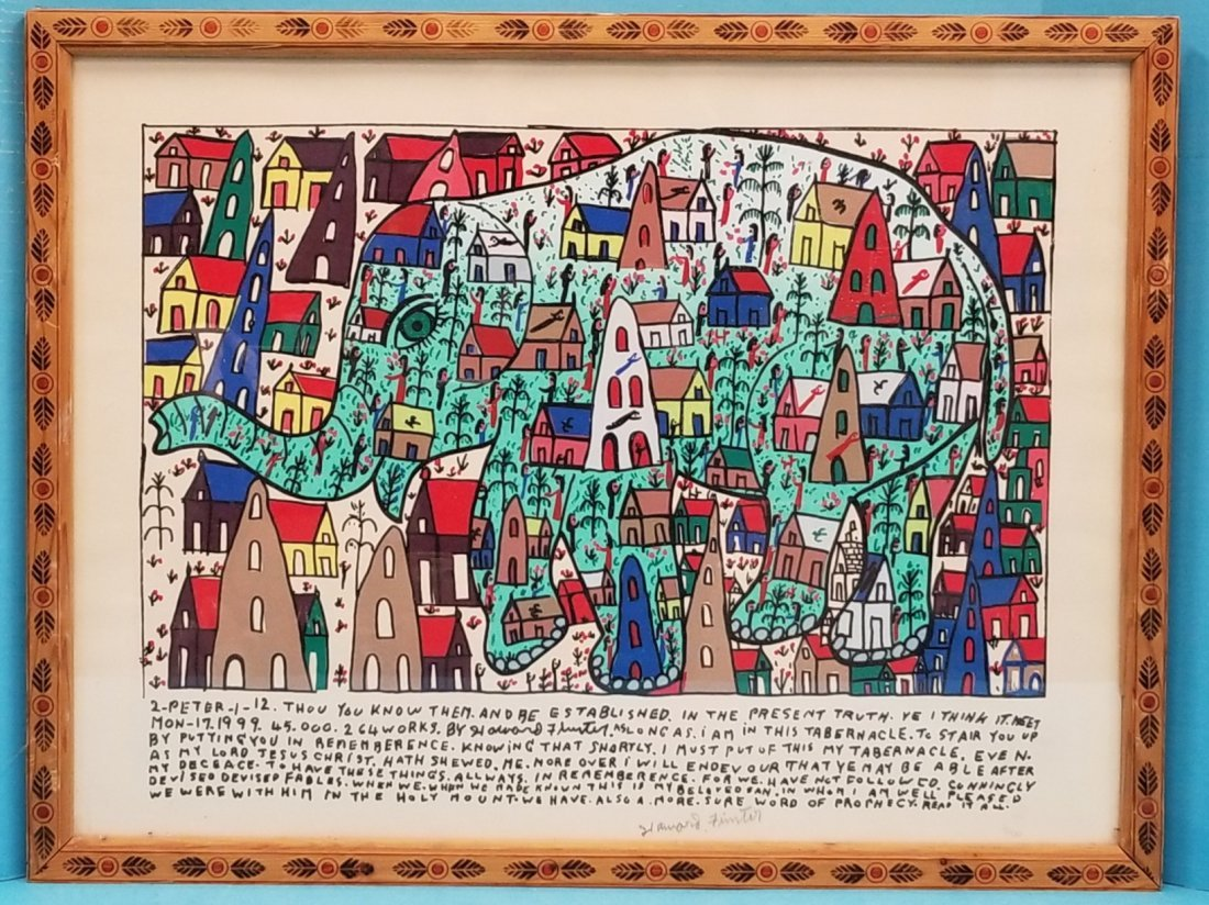 Howard Finster 2-Peter-1 -12 Folk Art