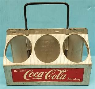 Coca Cola Six (6) Pack Aluminum Carrier