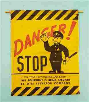 Danger Stop Banner