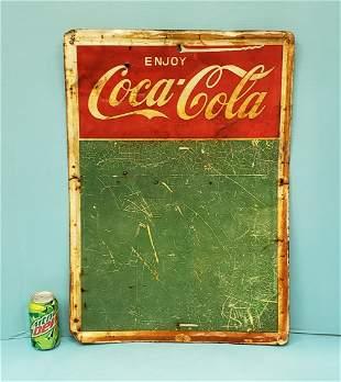 Coca Cola Menu / Chalk Board Sign