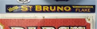 Porcelain St Bruno Flake Tobacco Sign
