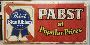 Pabst Blue Ribbon at Popular Prices Tin Sign