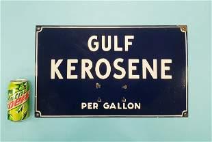 Porcelain Gulf Kerosene Price Sign