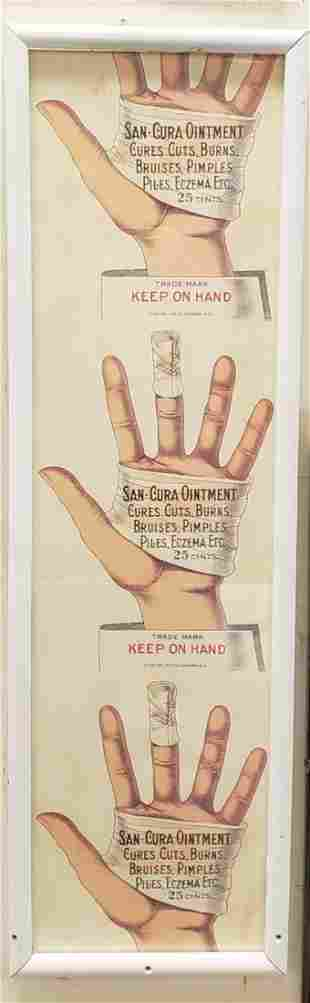 San Cura Ointment Framed Paper sign