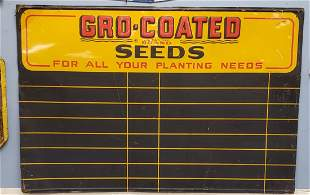 Gro-Coated Seeds Tin Sign