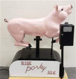 Coin Operated Porky Pig Kiddie Ride