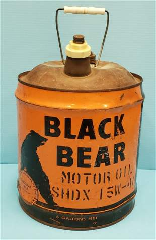 Black Bear 5 gallon Oil Can