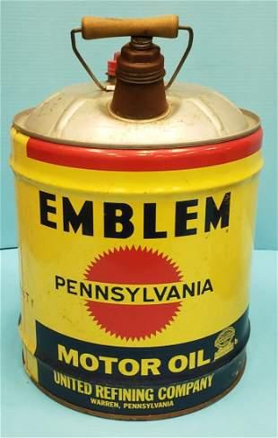 Emblem 5 gallon Oil Can