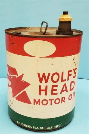 Wolf's Head 5 gallon oil can