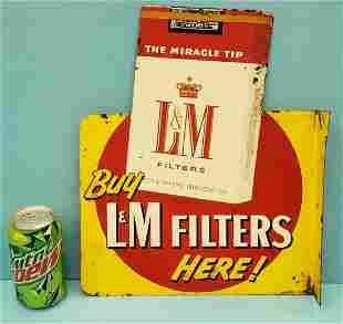 L & M / Chesterfield Cigarettes Flange Sign