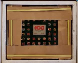 1986 Coca Cola Centennial Celebration Pin Series