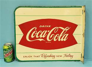 Coca Cola fishtail flange sign