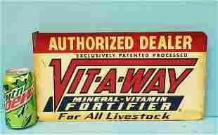 VIT-A-WAY Livestock flange sign