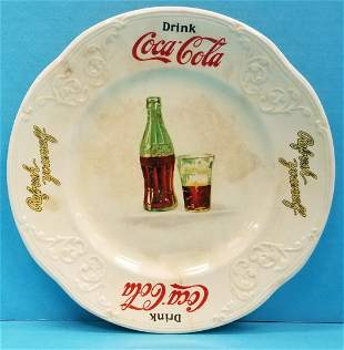 1930's Coca Cola sandwich plate Edwin M. Knowles China