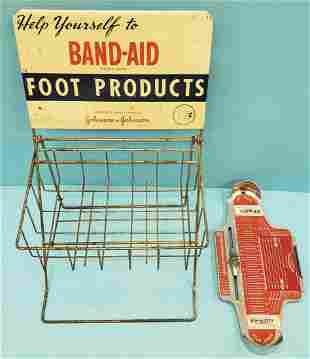 Band Aid Counter display & shoe store foot measure