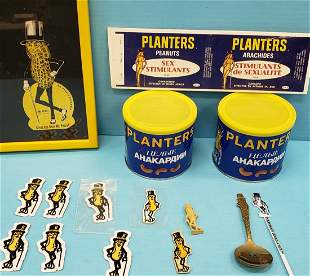 Scarce Lot Of Mr. Peanut & Planters collectibles