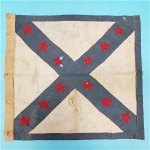 Rare Confederate Civil War Twelve Star Flag