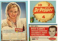 Dr Pepper Calendar and  signs lot