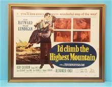 Id Climb The Highest Mountain Lobby Card Framed