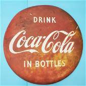 """Drink Coca Cola In Bottles 36"""" Button Sign"""