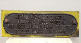 Boston and Main Cast Iron Railroad Sign
