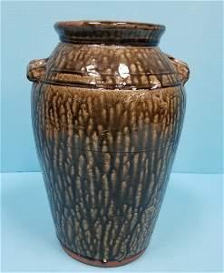 Clete Meaders Churn 1994 folk pottery