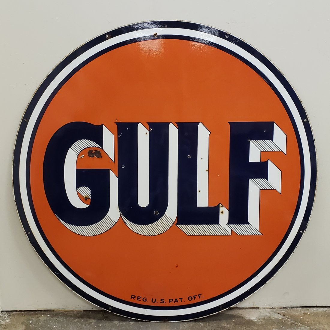Porcelain Double sided Gulf Dealership Sign