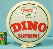 Sinclair Dino Supreme Gas Pump Globe