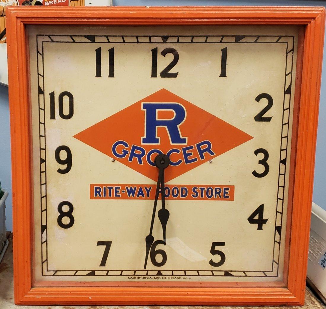 R Grocer Rite-Way Food Store Clock