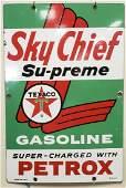 1960 Sky Chief Supreme Texaco Porcelain Pump Plate