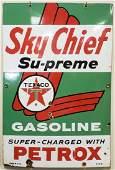 Sky Chief Supreme Texaco Porcelain Pump Plate