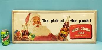 Royal Crown Cola Cardboard sign