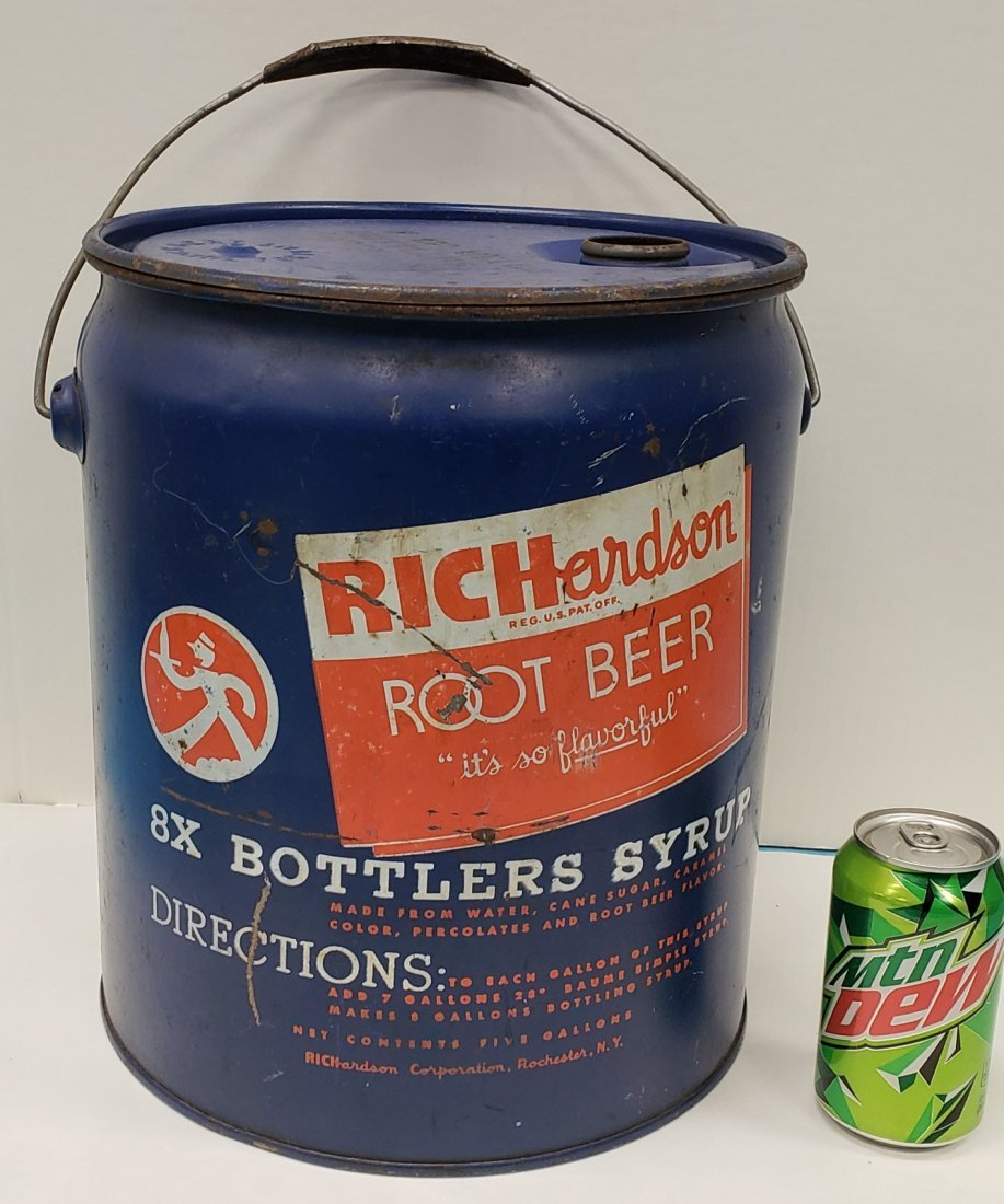 Richardson Root Beer 5 gallon Syrup Can