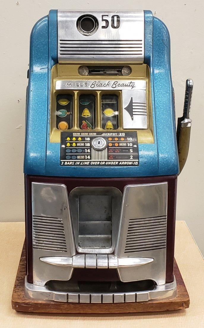 Mills Black Beauty Half Dollar (50 cent) Slot machine